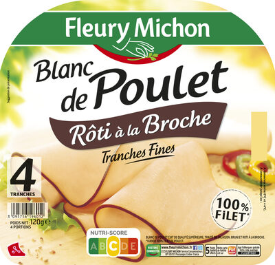 Blanc de Poulet rôti à la broche - 4 tranches fines - Product - fr