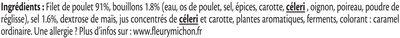 Blanc de Poulet rôti à la broche - 4 tranches fines - Ingrediënten - fr