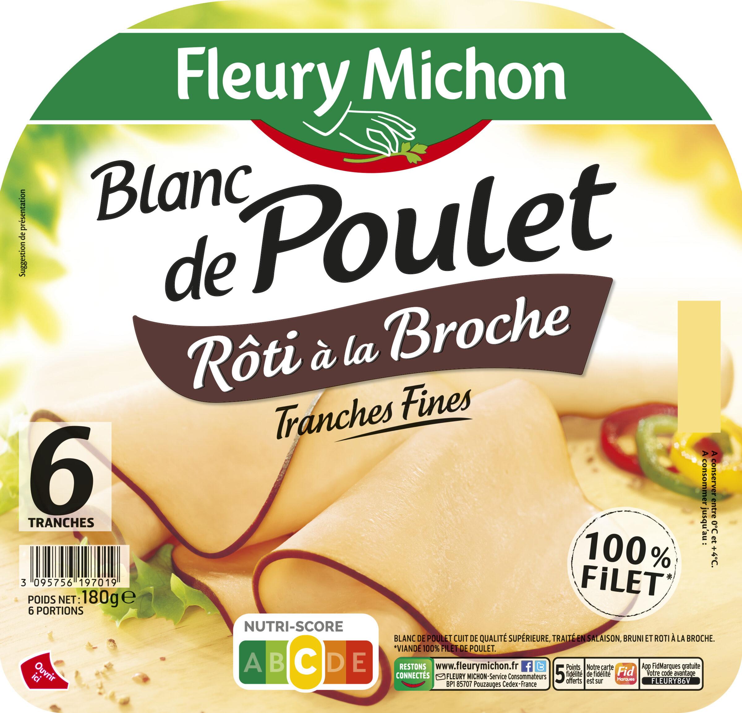 Blanc de Poulet rôti à la broche - 6 tranches fines - Product - fr