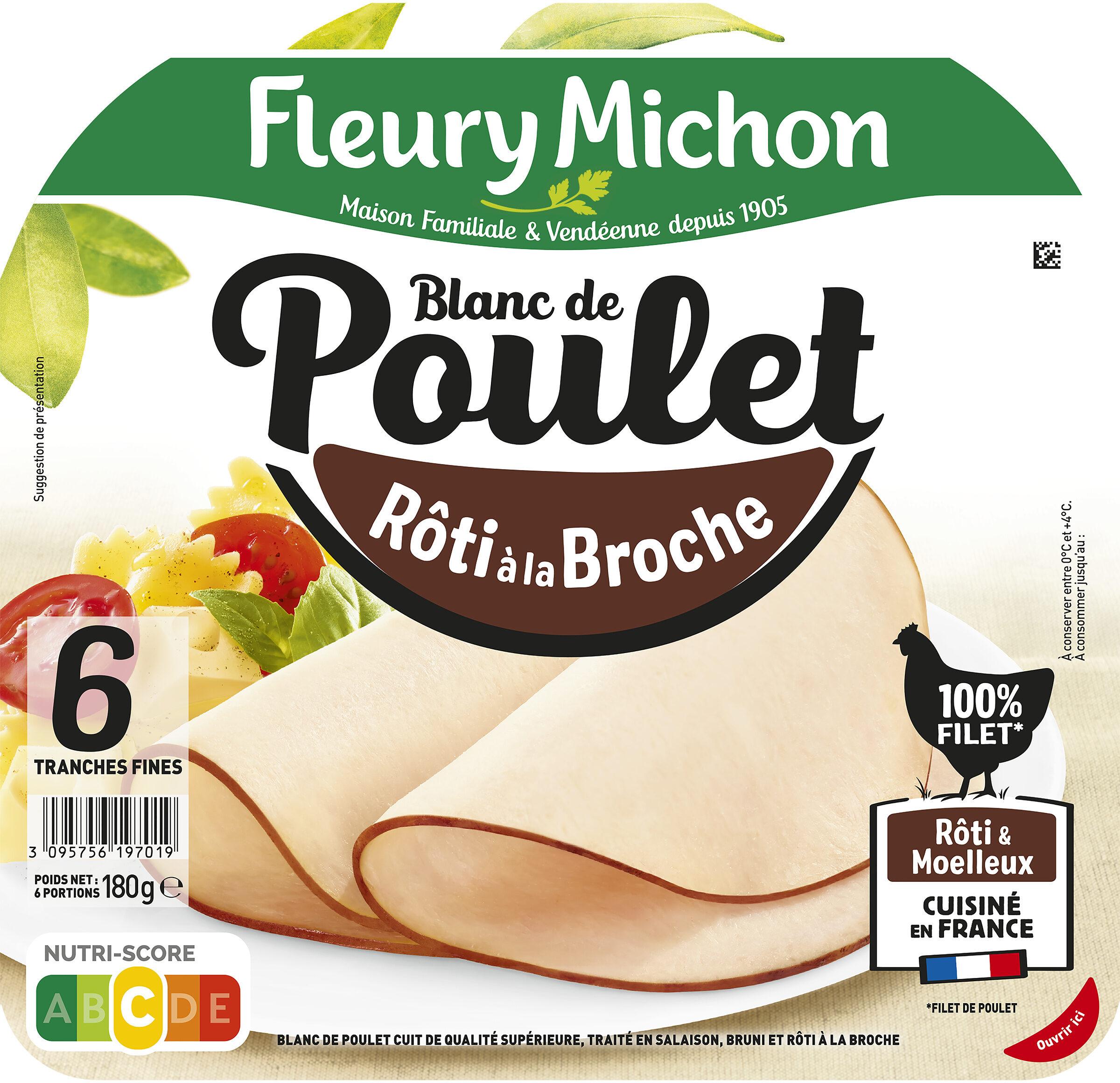 Blanc de Poulet rôti à la broche - 6 tranches fines - Produit - fr