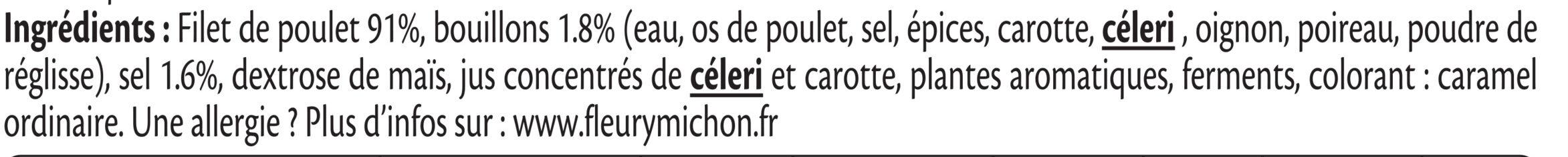 Blanc de Poulet rôti à la broche - 6 tranches fines - Ingrediënten - fr