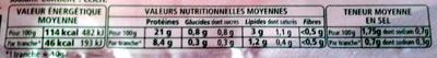 Le supérieur cuit à l'étouffée - 6tr. - Nutrition facts - fr