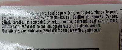 Le torchon - 4tr. - Ingredienti - fr
