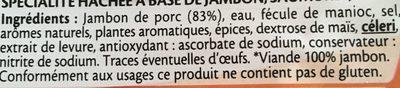 Le haché de jambon à poêler  - 2 pièces - Ingredients