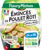 Emincés de poulet rôti- 25% de sel*  - 2X75g - Produit