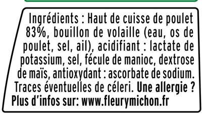 Emincés de poulet rôti- 25% de sel*  - 2X75g - Ingrédients
