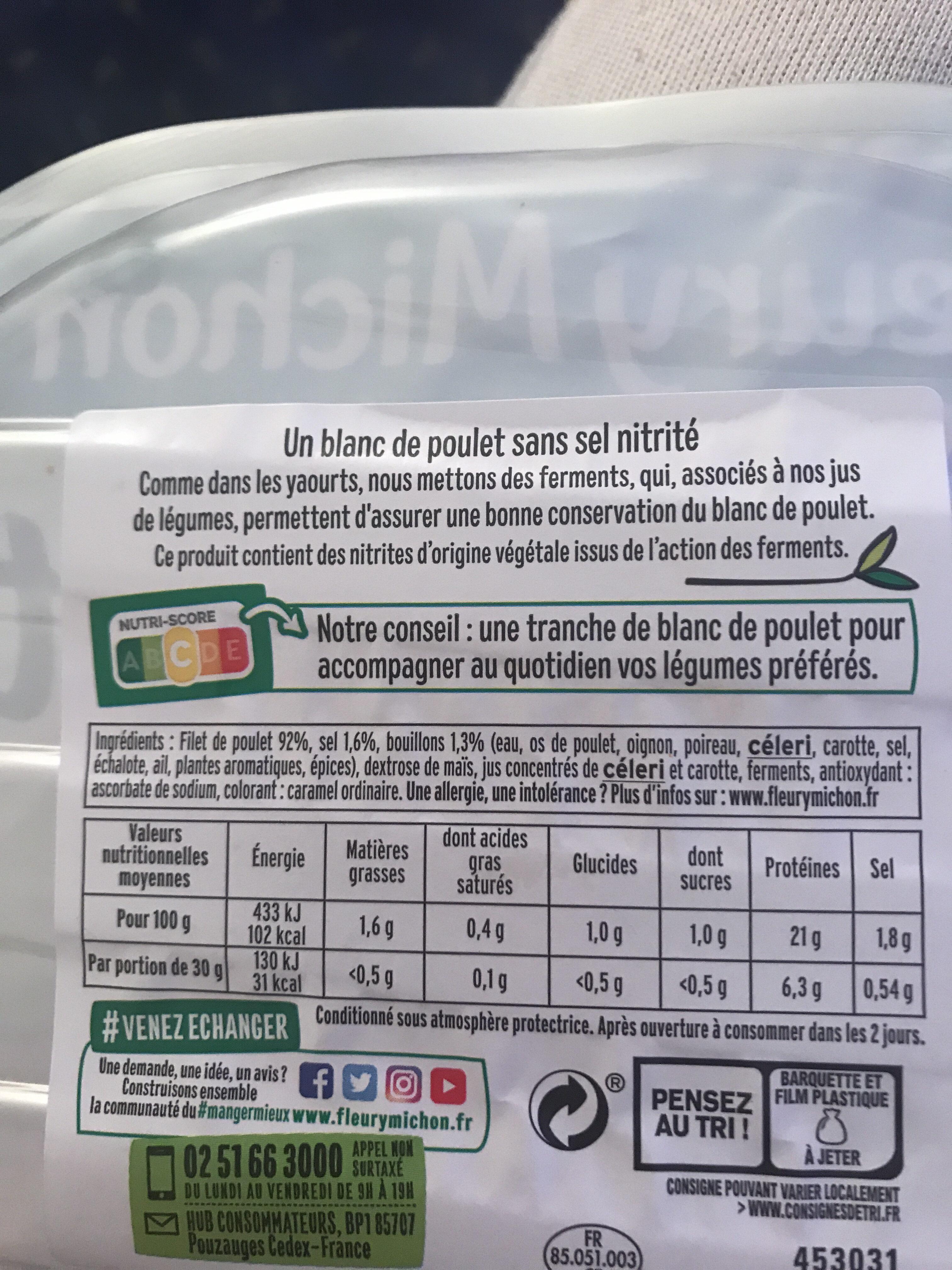 Blanc de poulet - Fleury Michon