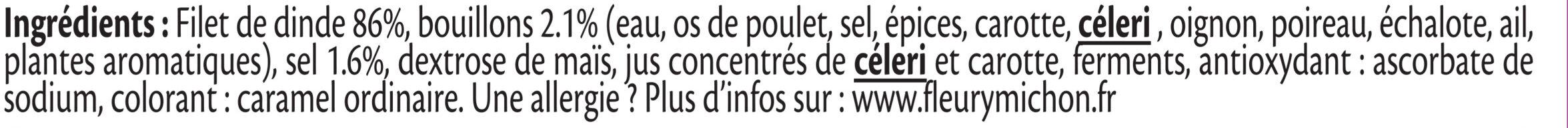 Blanc de Dinde Doré au four - 4tr. - Ingrediënten - fr