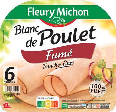 Blanc de poulet fumé - 6 tranches fines - Product - fr