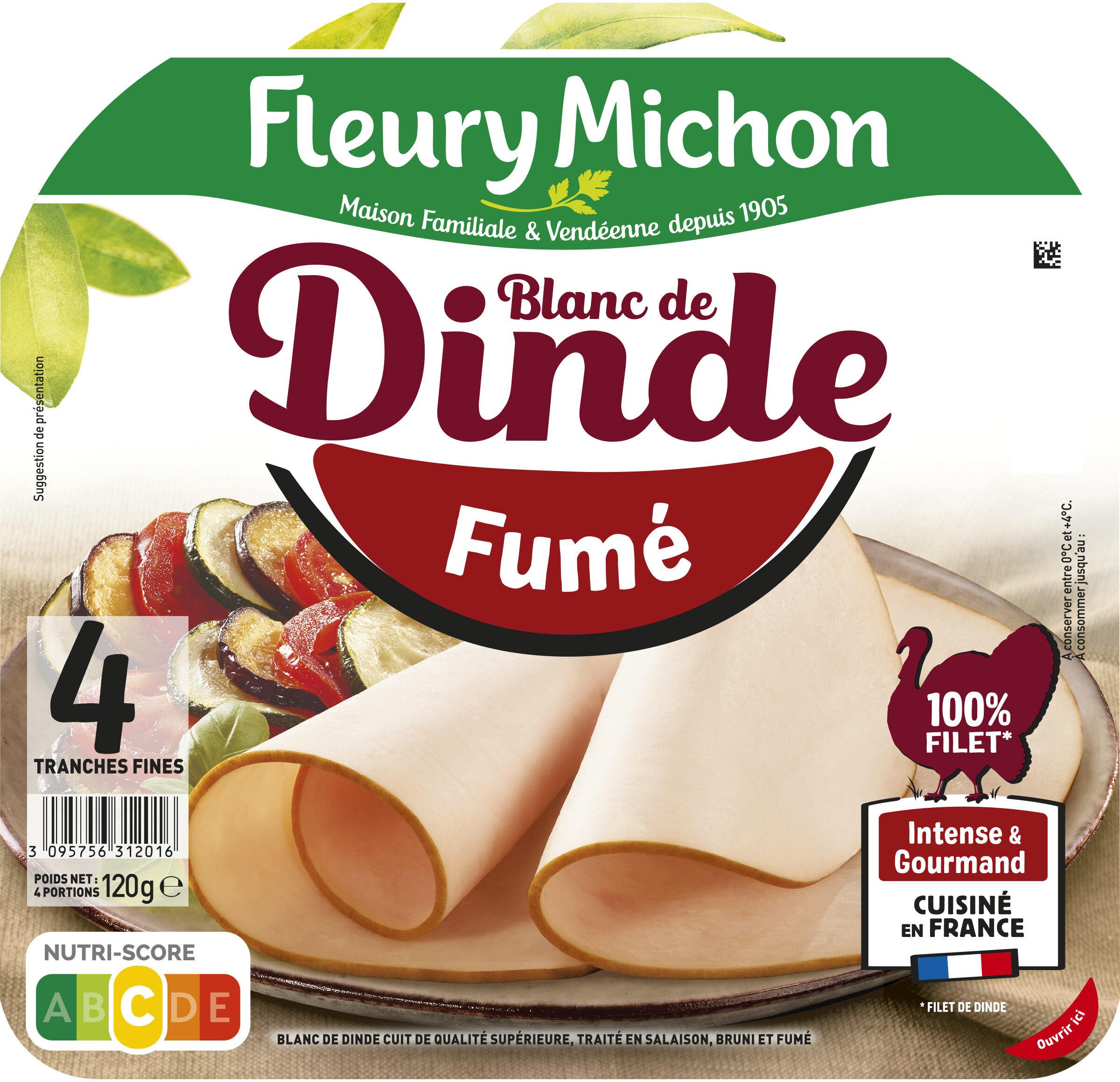 Blanc de dinde fumé - 4 tranches fines - Product - fr