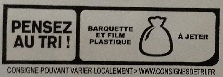 Blanc de dinde fumé - 4 tranches fines - Recyclinginstructies en / of verpakkingsinformatie - fr