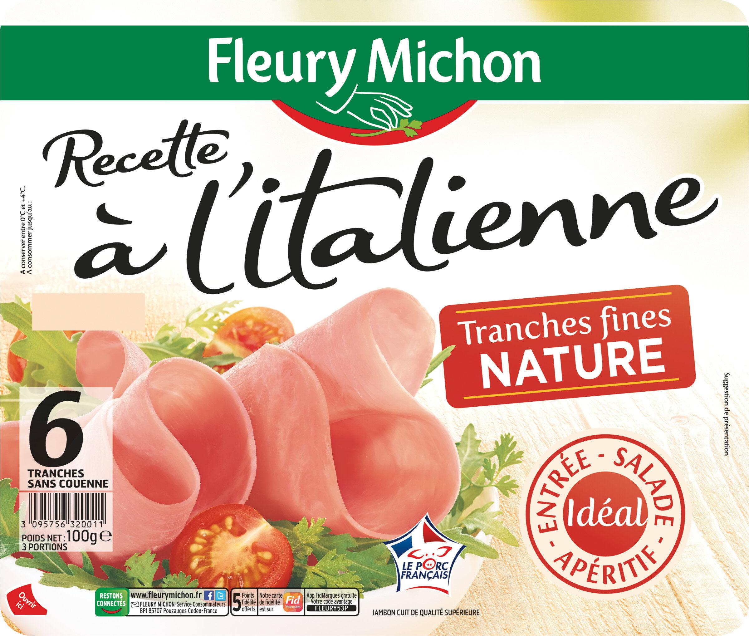 Recette à l'Italienne tranches fines nature - 6 tranches fines - Produit - fr