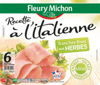 Recette à l'Italienne tranches fines aux herbes - 6 tranches fines - Prodotto - fr
