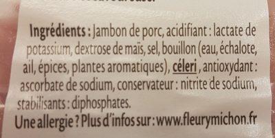 Dés de Jambon -25% de Sel* - Ingrédients - fr