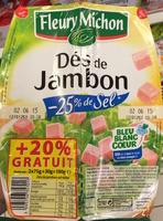 Dés de Jambon (-25% de sel) (+20% gratuit) - Product
