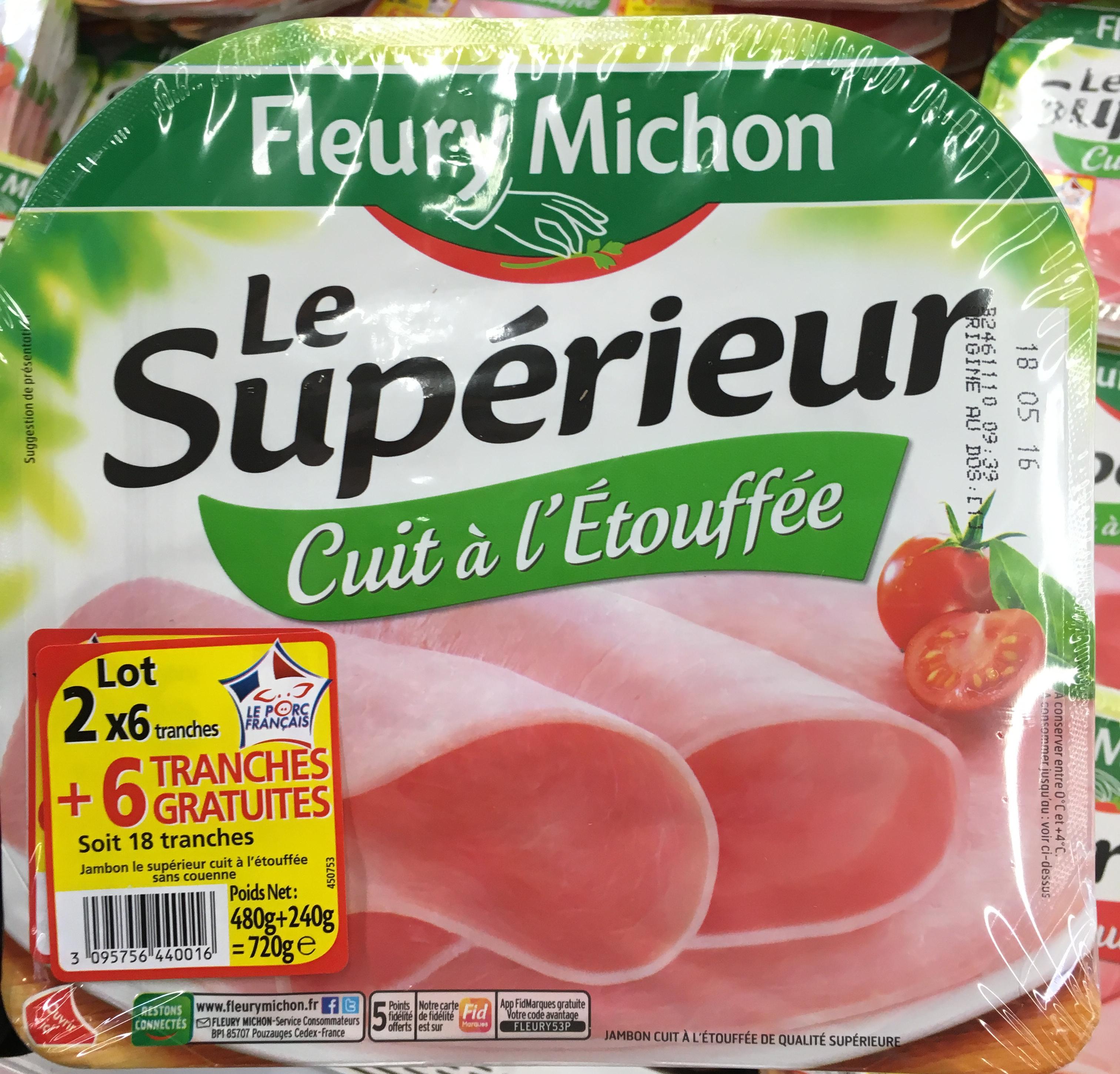 Le Supérieur - Jambon cuit à l'Etouffée - Product - fr
