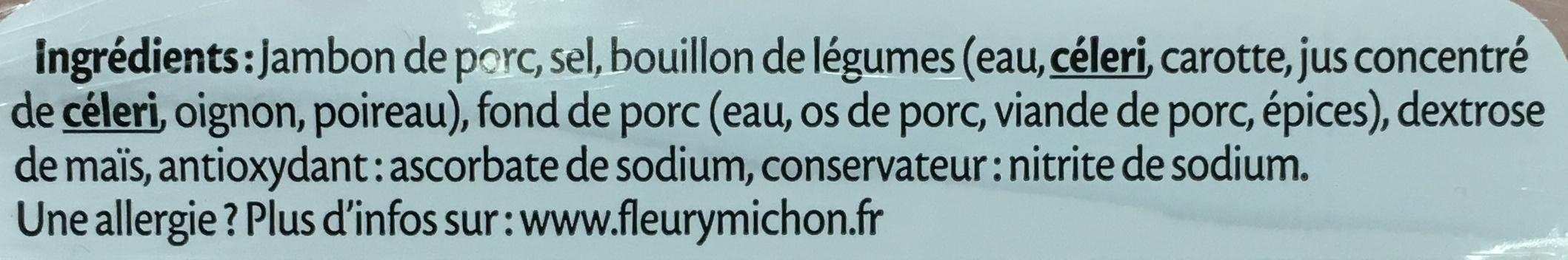 Le Supérieur - Jambon cuit à l'Etouffée - Ingrediënten - fr