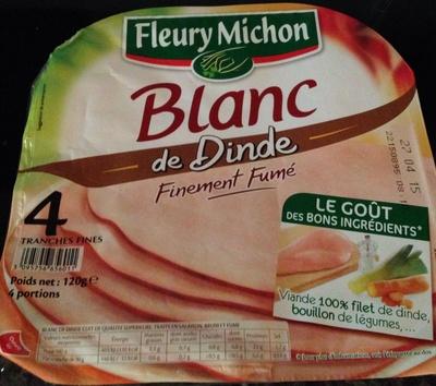 Blanc de dinde ( 4 tranches) - Product - fr