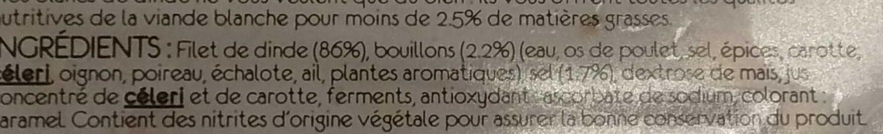 Blanc de dinde ( 4 tranches) - Ingredients - fr