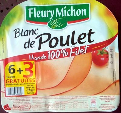 Blanc de Poulet, Viande 100 % Filet (6 Tranches + 3 Gratuites) - Produit