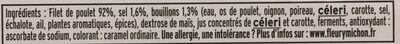 Blanc de Poulet, Viande 100 % Filet (6 Tranches + 3 Gratuites) - Ingrédients