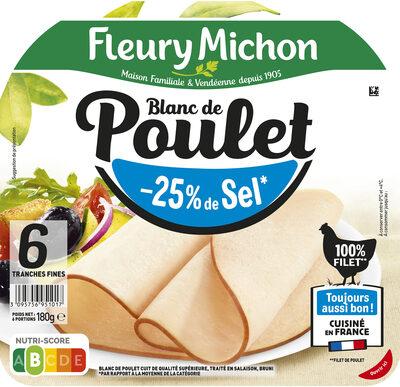 Blanc de Poulet  - 25% de sel* - Product - fr