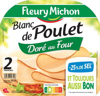 Blanc de poulet doré au four -25% de sel*- 2tr - Product