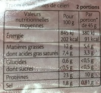 Le Paris & Cheddar spécial Baguette - Informations nutritionnelles