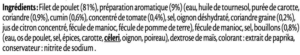 Filet de poulet grillé mariné aux épices douces - Ingredienti - fr