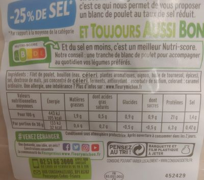 Blanc de Poulet (40g) - Ingredients