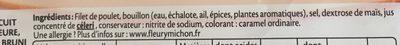 Blanc de Poulet  Halal - 25% de sel*  - 6 tranches fines - Ingrédients