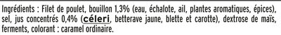 Blanc de Poulet  Halal - 25% de sel*  - 6 tranches fines - Ingredients