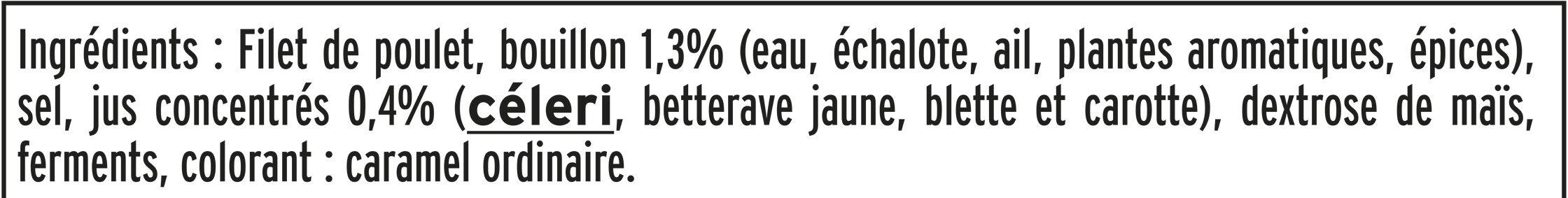 Blanc de Poulet  Halal - 25% de sel*  - 6 tranches fines - Ingrédients - fr