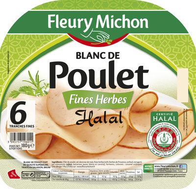 Blanc de poulet fines herbes Halal - 6 tranches fines - Product