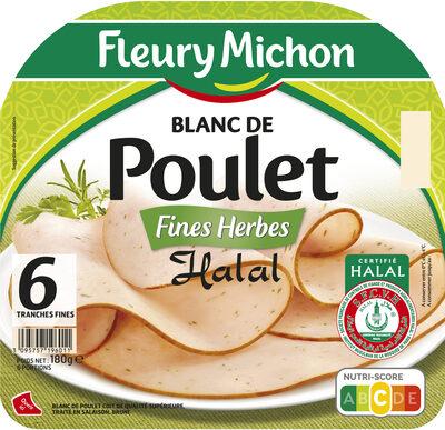 Blanc de poulet fines herbes Halal - 6 tranches fines - Produit