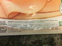 Blanc de poulet fines herbes Halal - 6 tranches fines - Ingrédients - fr