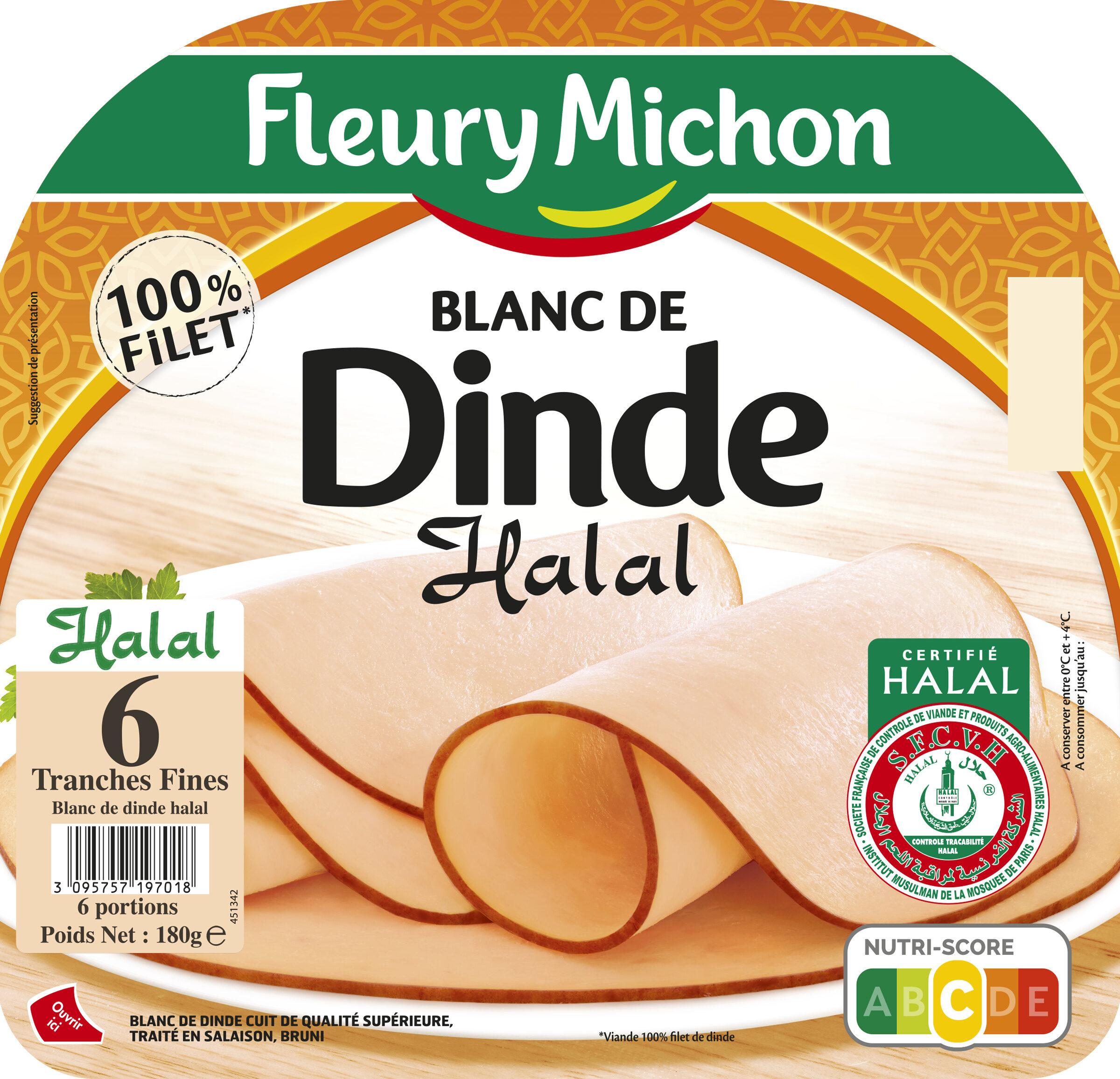 Blanc de dinde Halal - 6 tranches fines - Produit - fr