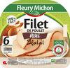 Filet de poulet rôti Halal - 6 tranches épaisses - Producto