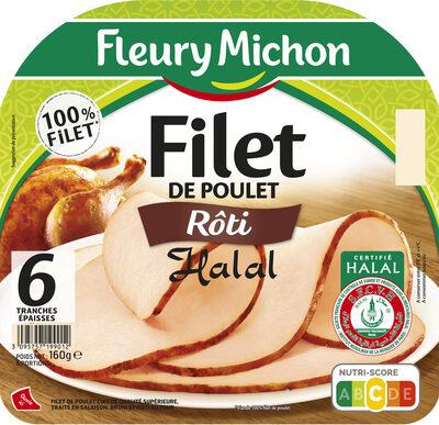 Filet de poulet rôti Halal - 6 tranches épaisses - Product - fr