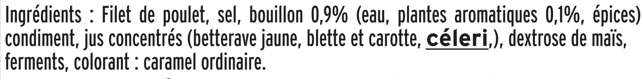 Filet de poulet rôti Halal - 6 tranches épaisses - Ingrédients - fr