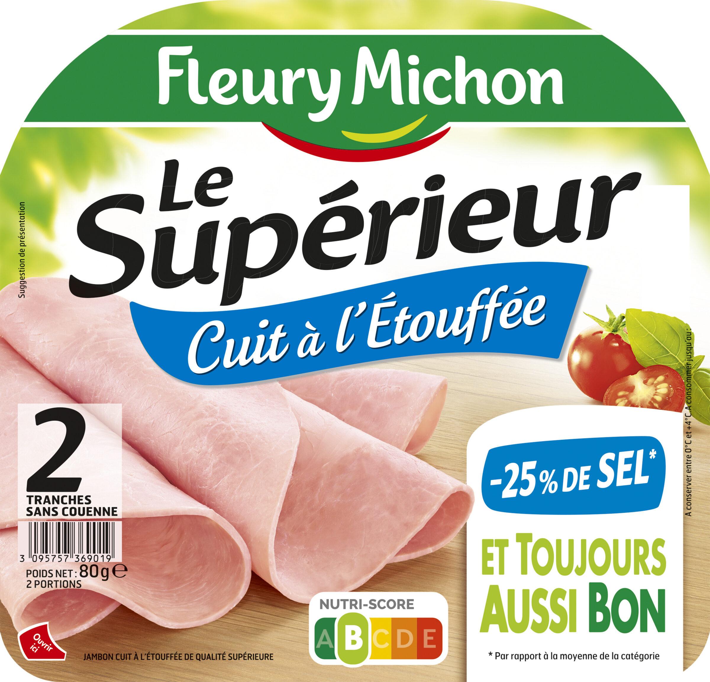 Le supérieur cuit à l'étouffée - 25% de sel* - 2 tranches - Produit - fr
