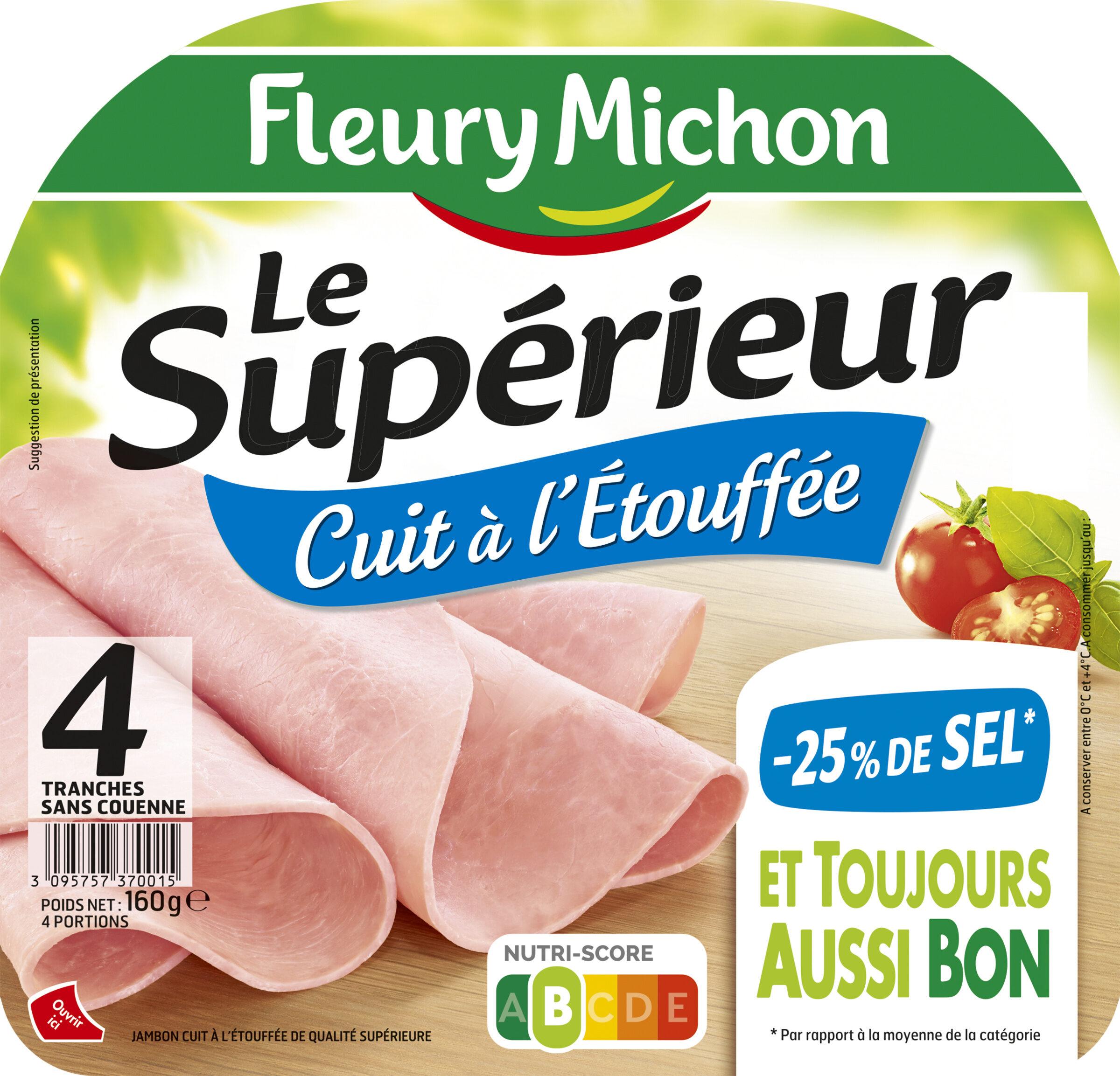 Le supérieur cuit à l'étouffée -25%  sel* - 4 tranches - Producto - fr