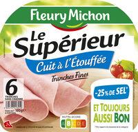 Le supérieur cuit à l'étouffée - tranches fines - 25% de sel * - 6 tranches - Product - fr