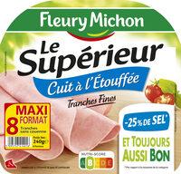 Le supérieur cuit à l'étouffée - tranches fines - 25% de sel* - 8 tranches - Product - fr