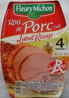 Rôti de Porc cuit, Label Rouge (4 Tranches) - Produit