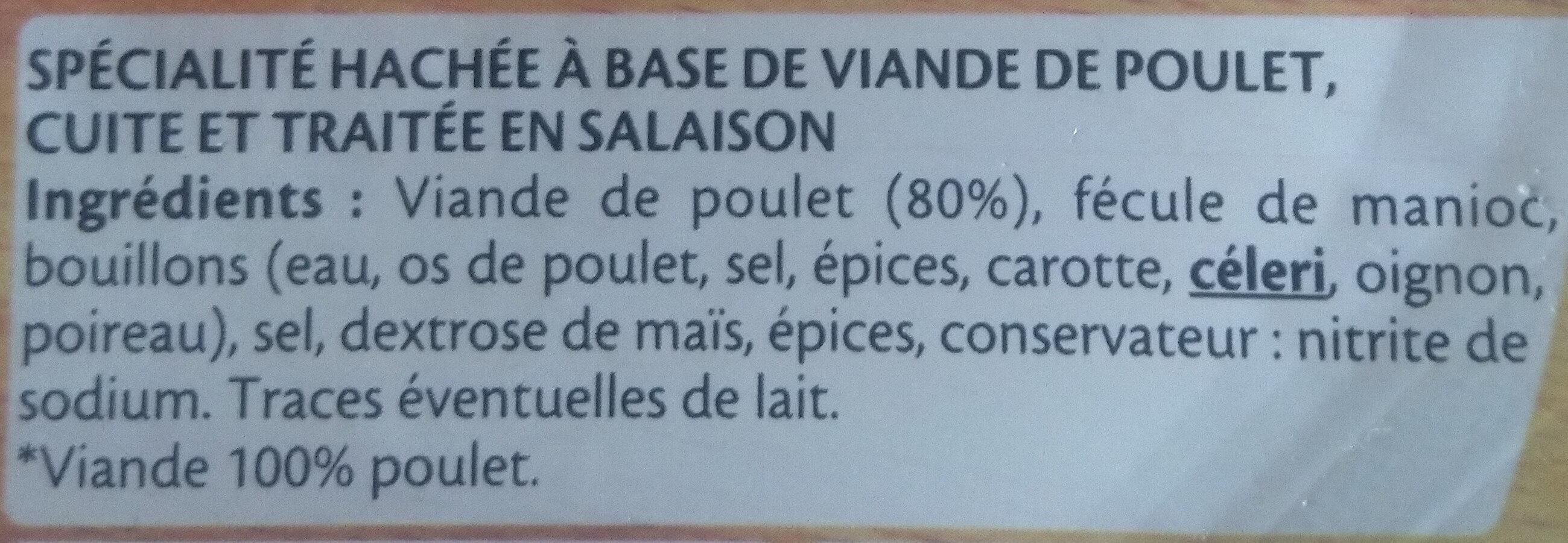 Le Haché de Poulet - à Poêler - Ingrédients - fr
