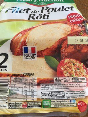 Filet de Poulet - Rôti au Four - 1