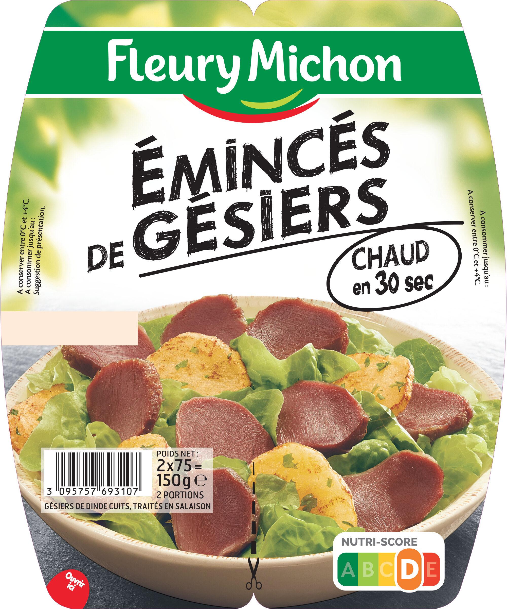 Emincés de gésiers - 2x75g. - Product - fr