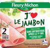 J'aime le jambon - 2 tranches - Produit