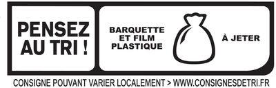 FILIERE FRANCAISE D'ELEVEURS ENGAGES - Le Supérieur à l'étouffée - 2 tranches - Instruction de recyclage et/ou information d'emballage - fr
